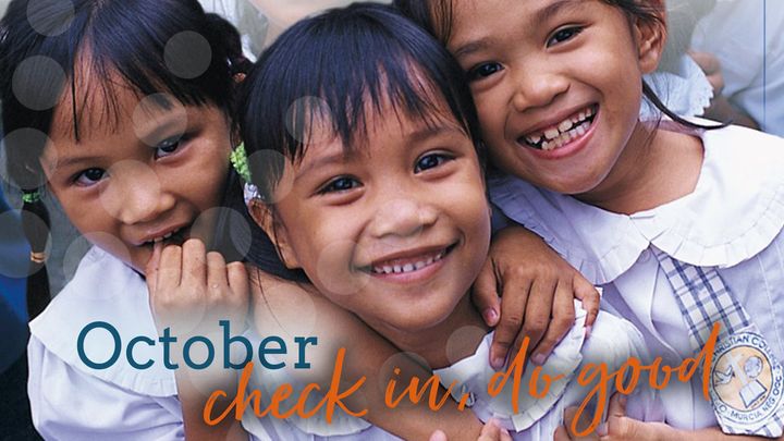 October check in, do good! logo image