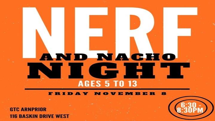 Nerf and Nacho Night logo image