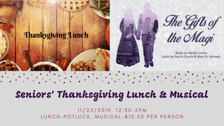 Seniors' Thanksgiving Luncheon and Musical logo image