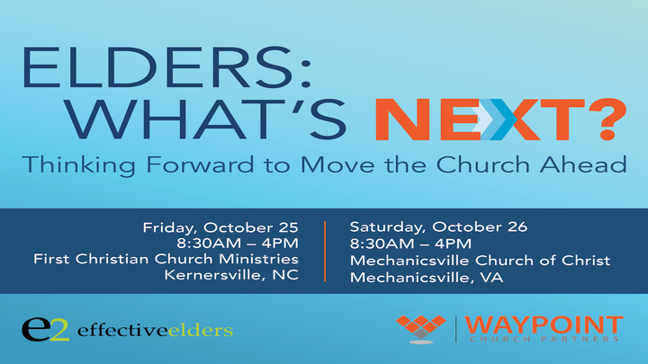 E2 Elders: What's Next? Thinking Forward to Move the Church Ahead logo image