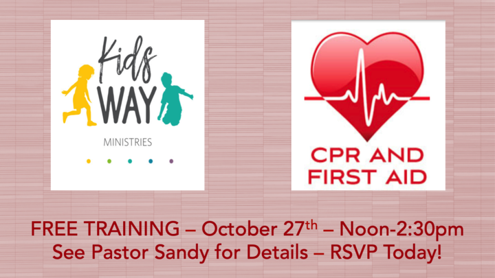 KidsWay Training - CPR/First Aid logo image