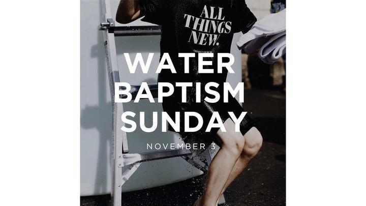 Water Baptism Sunday logo image