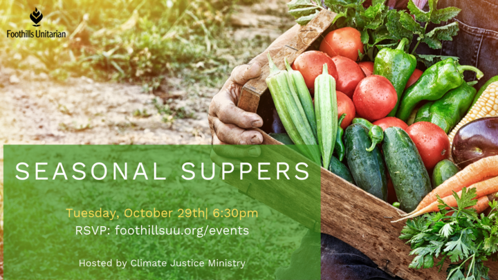 Climate Justice Seasonal Suppers logo image