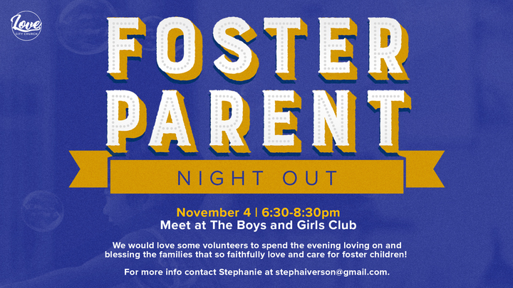 FOSTER PARENT NIGHT OUT logo image