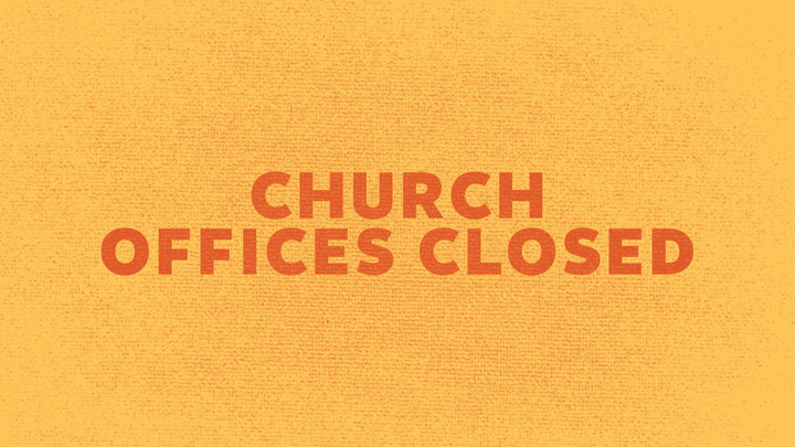 Church Offices Closed logo image