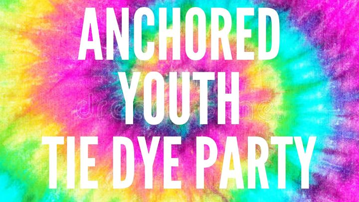 Anchored Tie Dye Party logo image
