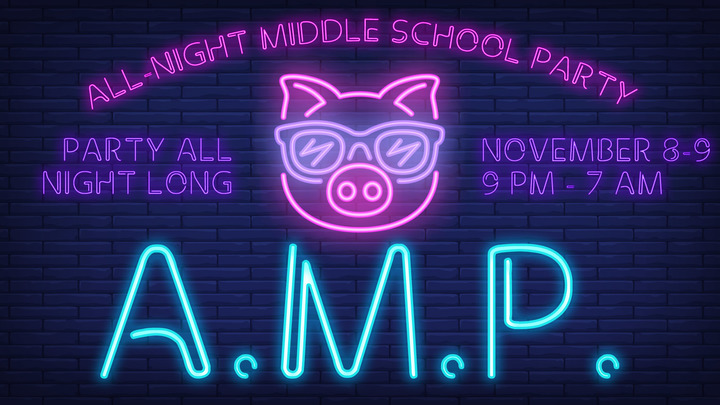 AMP: All-Night Middle School Party logo image