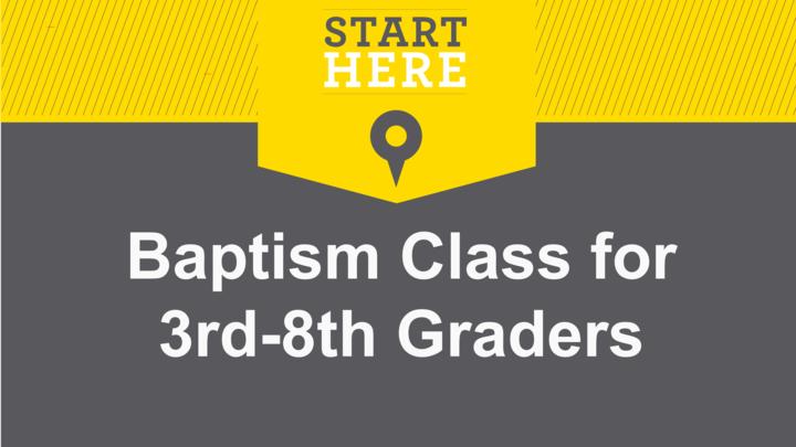 Kid/Teen Baptism Class logo image