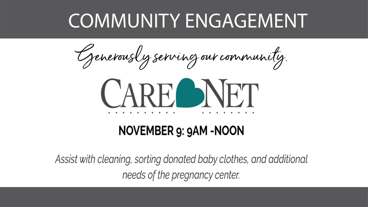 Care Net Pregnancy Center Assistance: Saturday, Nov. 9th: 9 am - Noon logo image