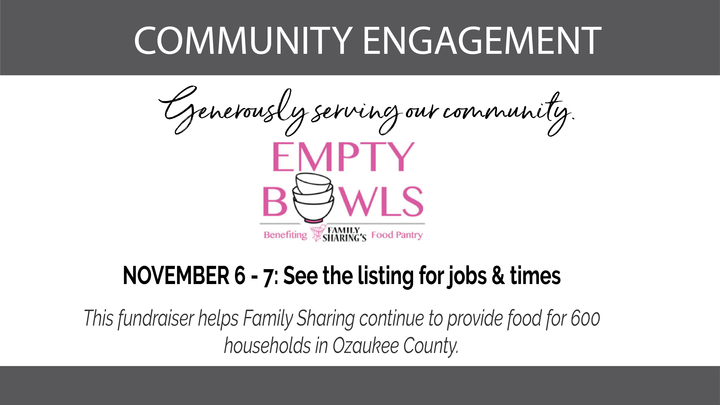 Family Sharing's Empty Bowls: Serving Opportunities November 6 & 7 logo image
