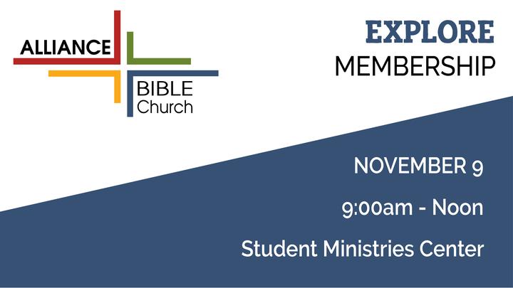 Explore Membership - Saturday, November 9, 9:00 AM - Noon logo image
