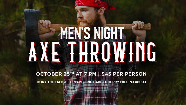 "Men's Night ""Axe Throwing"" logo image"