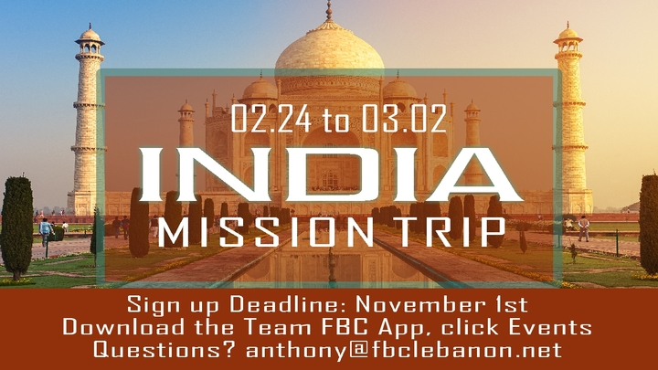 India Mission Trip (Feb 24-Mar2) logo image