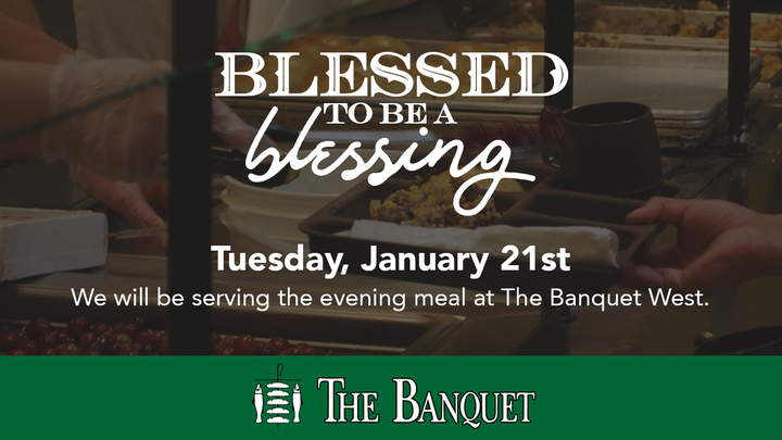Blessed to be a Blessing Serving Banquet logo image