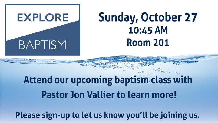 Explore Baptism logo image
