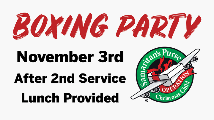 Operation Christmas Child Packing Party logo image