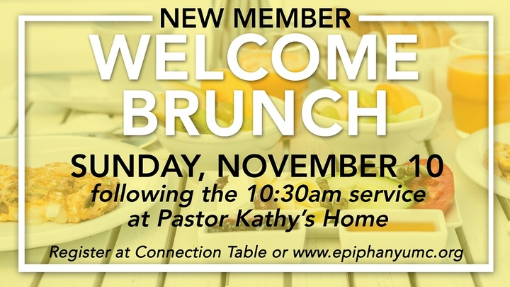 Welcome Brunch - wanting to know more about Epiphany UMC and possible membership? logo image