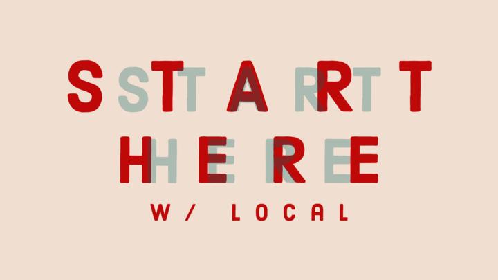 START HERE w/ Local logo image