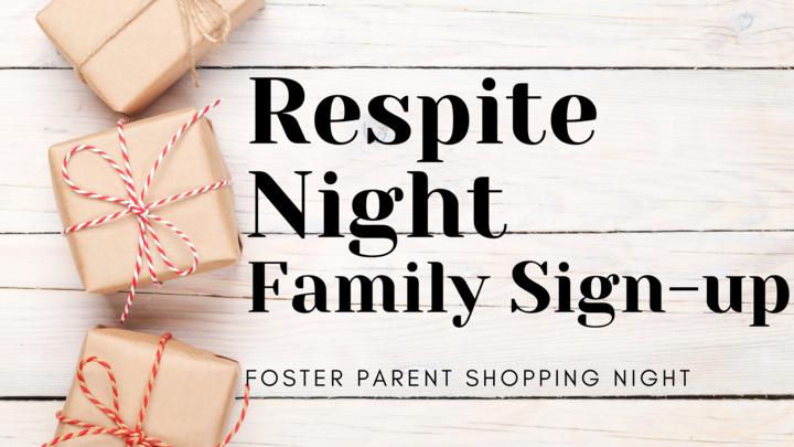 Respite Night (Foster Parent Shopping Night)  logo image