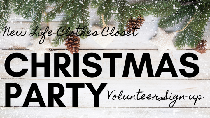 Clothes Closet Christmas Party Volunteers logo image