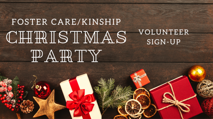 Foster Care/Kinship Christmas Party Volunteers logo image