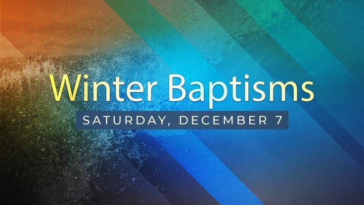 Winter Baptism Service logo image