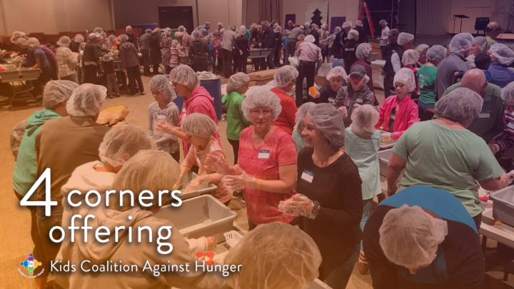 Kids Coalition Against Hunger Food Packing Event logo image