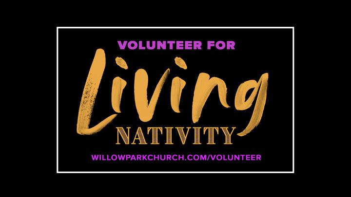 Volunteer for Living Nativity 2019 logo image