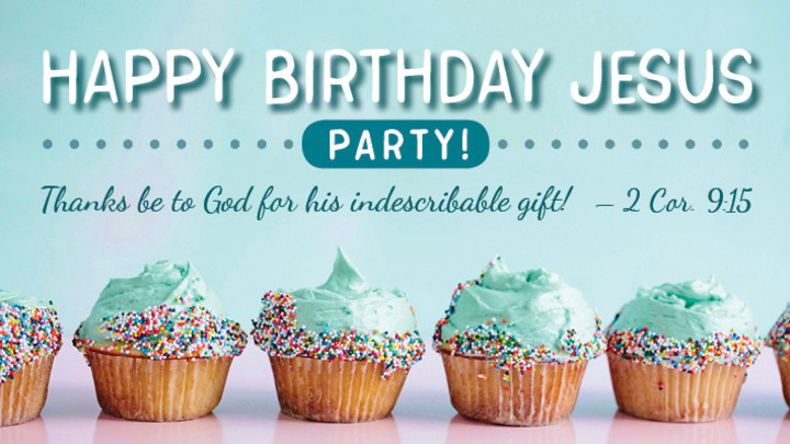Happy Birthday Jesus Preschool Party logo image