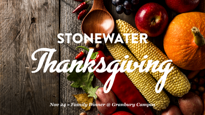 GB » StoneWater Thanksgiving | Family Potluck Dinner logo image
