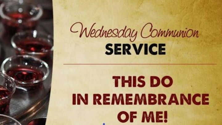 Wednesday Evening Communion  Service logo image