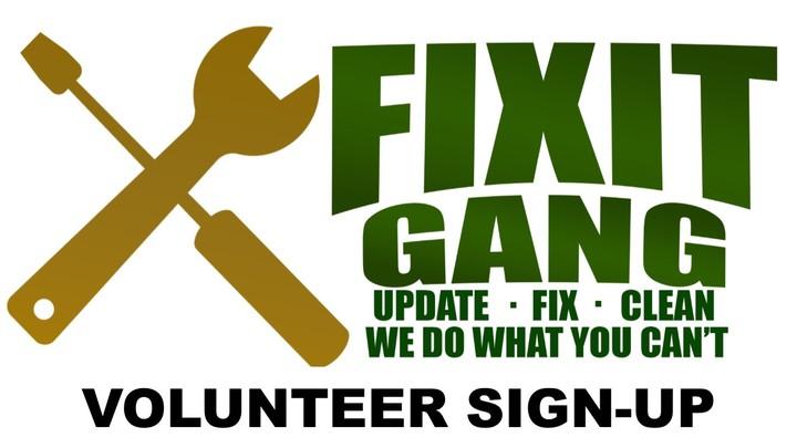 Fix-It Gang Volunteer Sign-up logo image