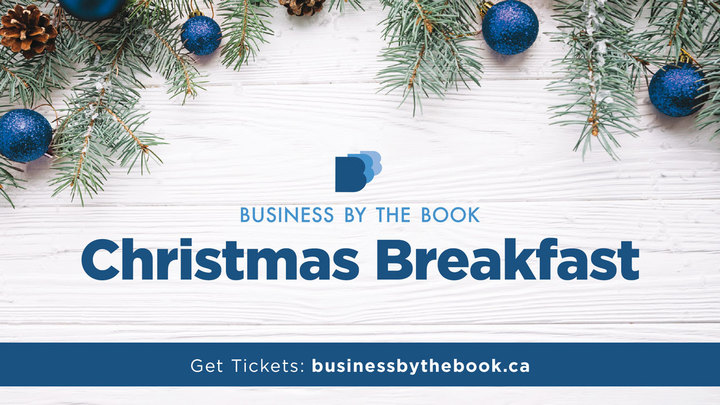 Business by the Book Christmas Breakfast logo image