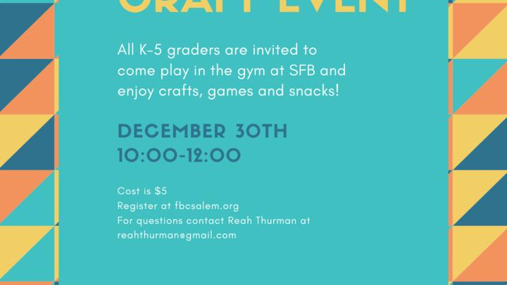 Kinder- 5th Grade Open Gym & Crafts logo image