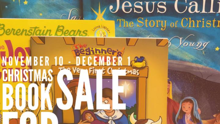 CHRISTMAS BOOK SALE logo image