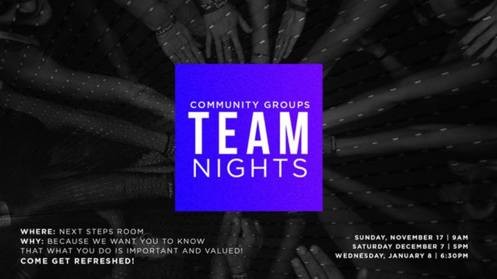 Community Groups Team Night  logo image