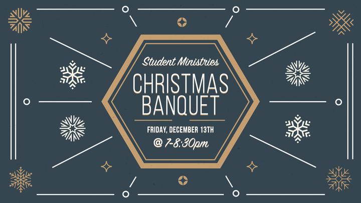 Leader Invitation : Student Ministries Christmas Banquet 2019 logo image