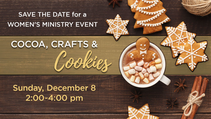 Cocoa, Crafts & Cookies - A Women's Event logo image