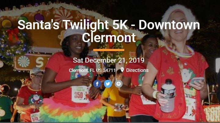 Santa's Twilight 5K - Clermont logo image