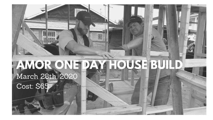 Amor One Day House Build logo image