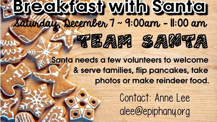 Breakfast with Santa - VOLUNTEERS logo image