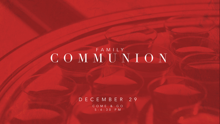 Family Come & Go Communion logo image