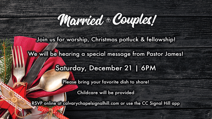 Marriage Ministry Christmas Potluck - December 21, 2019 logo image