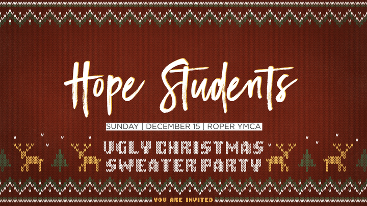 Hope Students: Ugly Christmas Sweater Party logo image