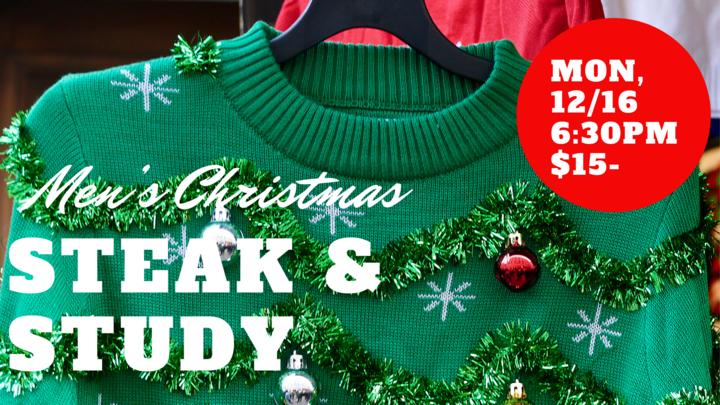 Men's Christmas Steak & Study  logo image