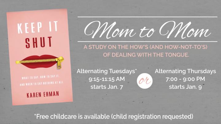 "Mom to Mom: ""Keep It Shut"" DVD Study logo image"