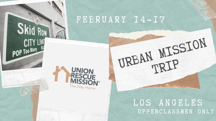 Urban Mission Trip 2019 logo image