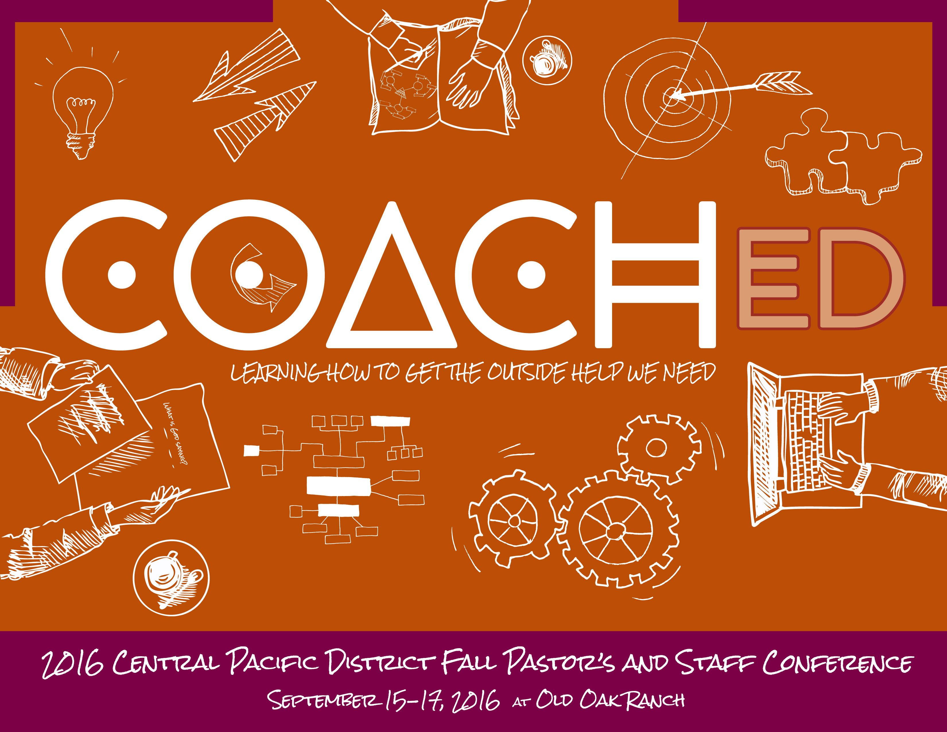 Coached letter size