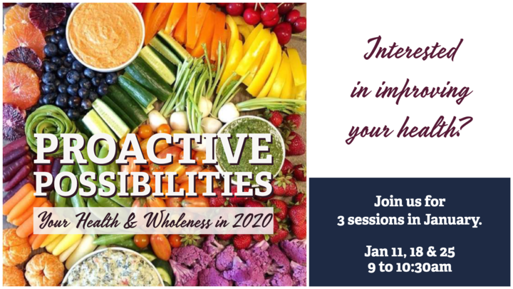 Proactive Possibilities: Your Health and Wholeness in 2020 logo image
