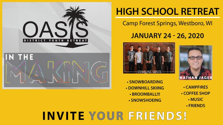 Oasis Senior High Winter Retreat logo image